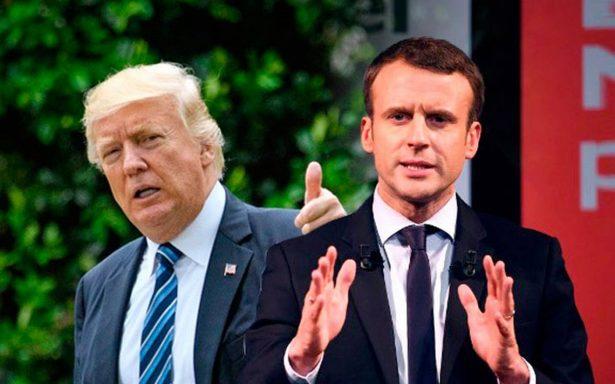 Hacer una guerra contra todos no funciona: Macron advierte a Trump