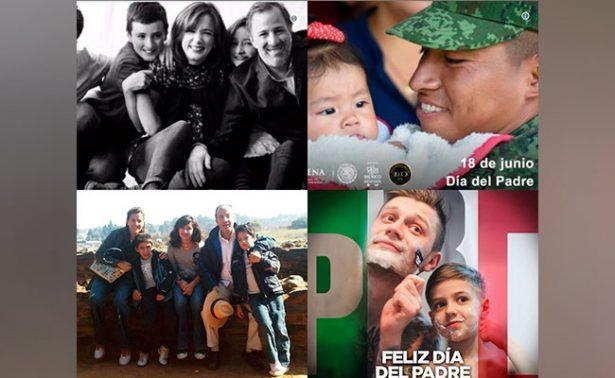 Así celebraron figuras de la política de México el Día del Padre