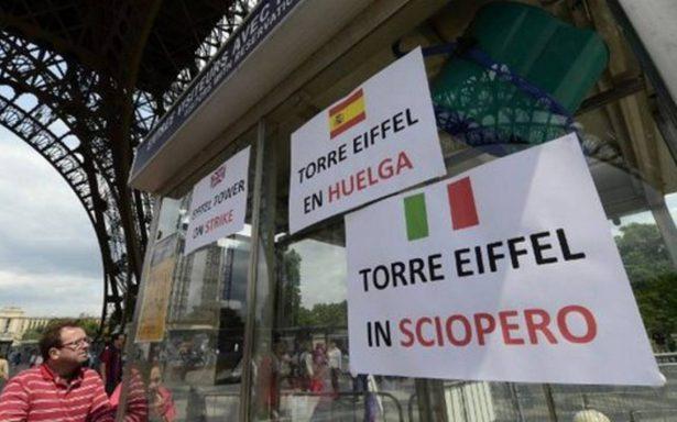 Torre Eiffel sufre cierres por huelga general en Francia