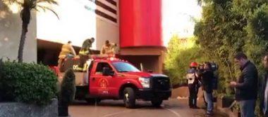 Reportan incendio en habitación de hotel en Santa Fe