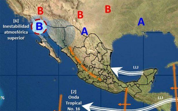 Tres sistemas mantienen potencial de lluvias en gran parte de México