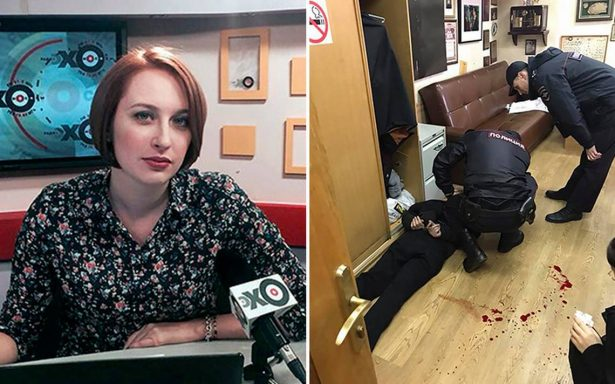 Desconocido intenta degollar a periodista rusa en radio Eco de Moscú
