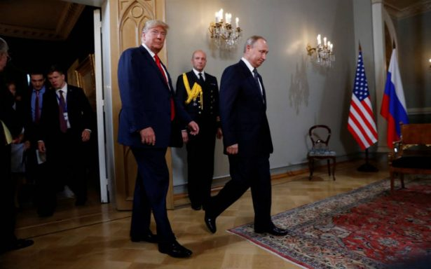 Trump y Putin llegan al Palacio Presidencial de Helsinki para su cumbre