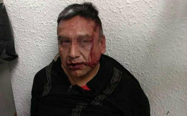 Con el solvente con que se drogaba, sujeto prende fuego a usuario del Metro