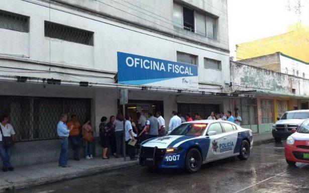 Saquean caja fuerte de la oficina fiscal de Tampico
