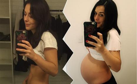 Zuria Vega presume recta final de su embarazo