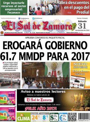 portada 31 de diciembre de 2016