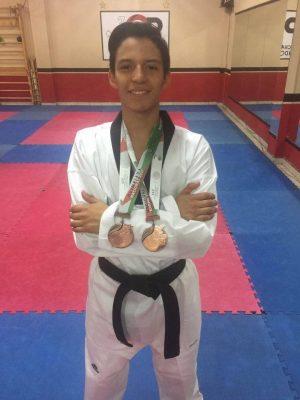 Zamorano ganó dos medallas en Olimpiada Nacional de Taekwondo
