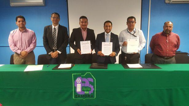 Firman convenio el ITESZ e IMSS