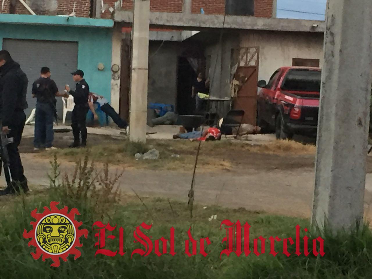 Ejecutan a seis personas en un convivio en Uruapan