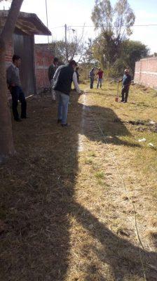 Supervisa SAPAZ  obra en red de agua