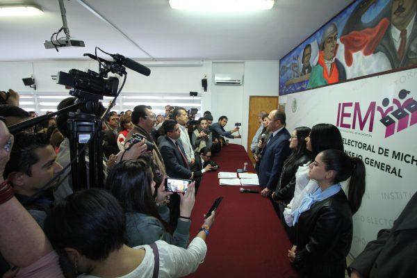 Inscrita, coalición en Michoacán de Morena, PT y Encuentro Social