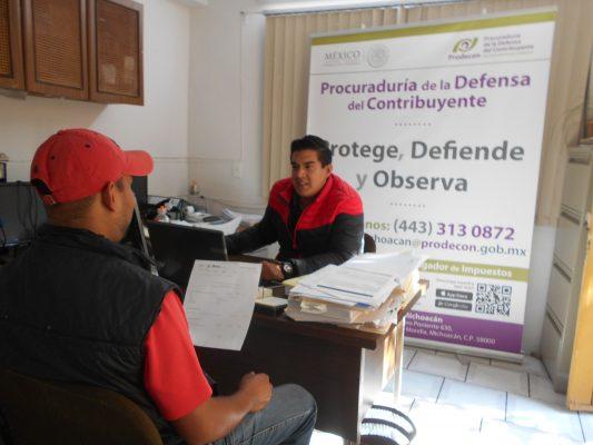 Ofrece Prodecon asesoría a contribuyentes