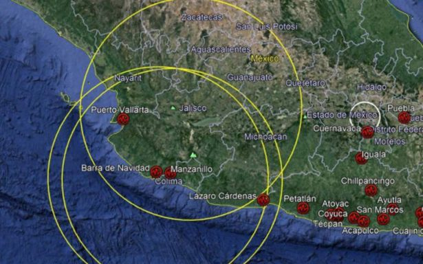 Registran sismo de magnitud 6 en Jalisco