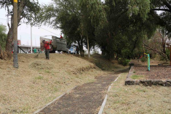 Danmantenimiento al Parque Lineal de Ario de Rayón