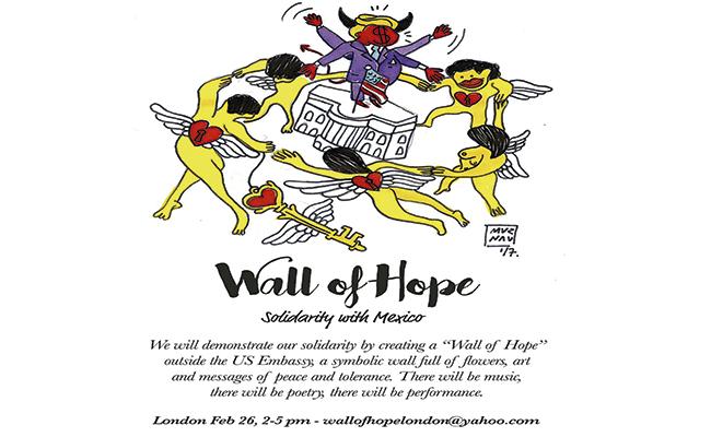 "Mexicanas  ""levantarán"" un muro de esperanza en Londres"