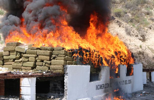 PGR incineró más de 12 toneladas y media de narcóticos