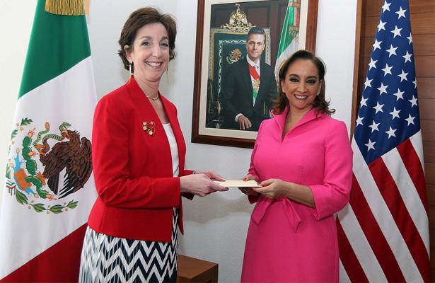 Ruiz Massieu recibió el día de hoy a la embajadora designada de Estados Unidos en México
