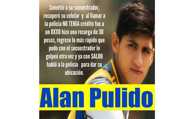 Tras el susto de Alan Pulido, surgen memes del secuestro