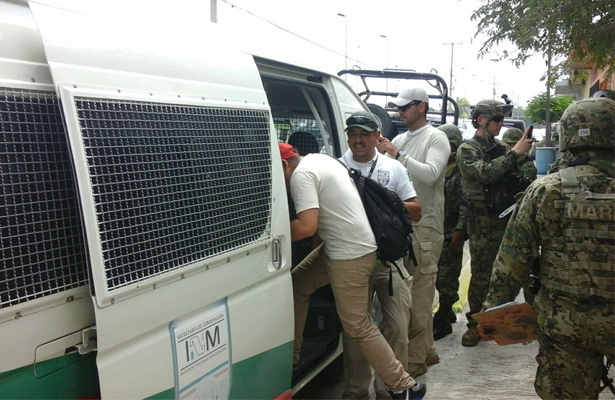 Rescata la SEMAR a 9 migrantes centroamericanos en Reynosa