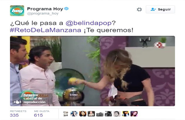 #BelindaChallenge se vuelve trending topic
