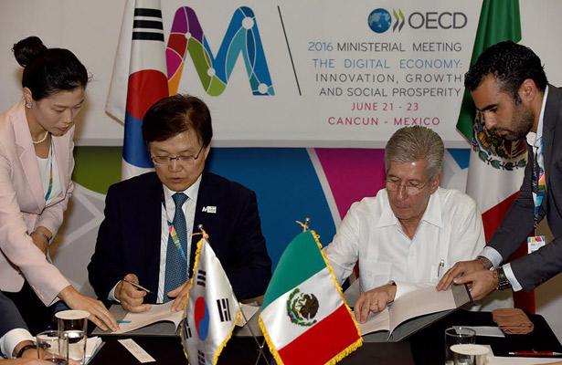 México y Corea del Sur firman Memorándum