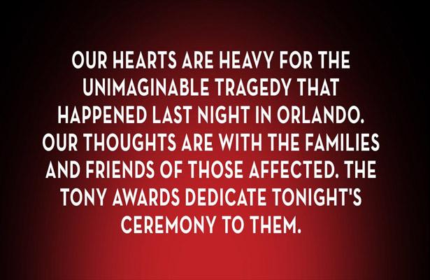 Dedican ceremonia de los Tony Awards a víctimas de Orlando