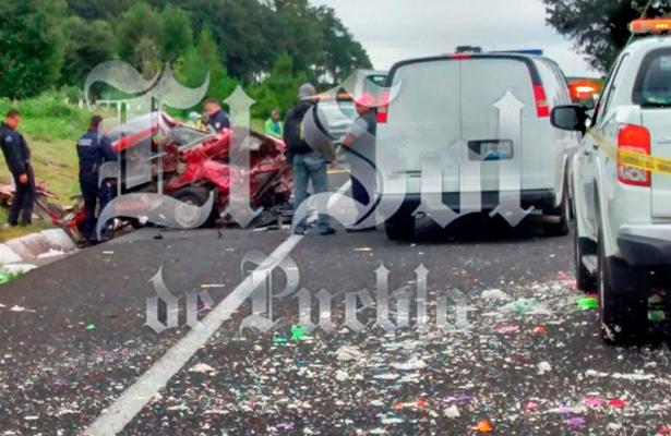Saldo de un muerto y cinco heridos por choque en la carretera Amozoc-Perote