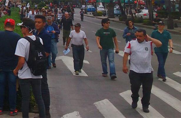 Marchas asfixiarán la vialidad de la CDMX