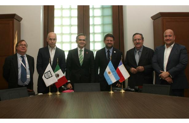 Firman Argentina y Chile carta de la CDMX por movilidad urbana sustentable