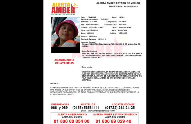 Activación Alerta Amber por Amanda Sofía Celaya Selis