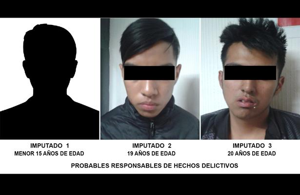 Detiene SSP-CDMX 3 personas por robo de motocicleta, en Tlalpan