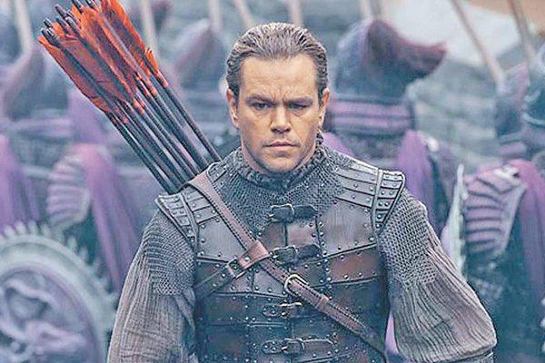 """""""La Gran Muralla"""", con Matt Damon, es bien recibida las salas de China"""