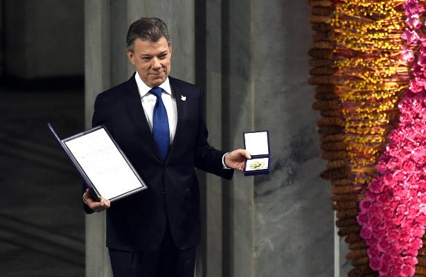Presidente Santos recibe el Premio Nobel de la Paz