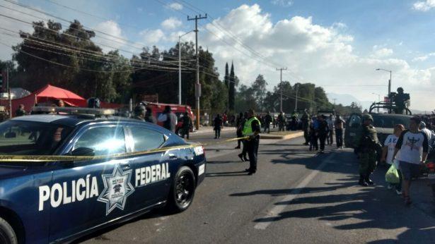 Policía Federal apoya en estallido del mercado de pirotecnia en Tultepec