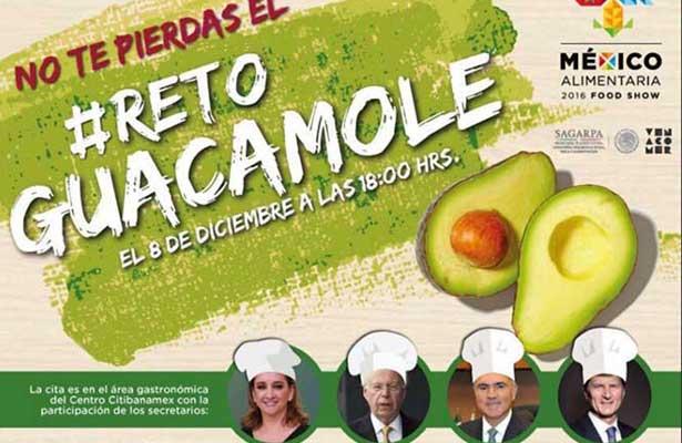 Sagarpa lanza el reto guacamole
