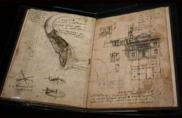 """Exponen en Roma el """"Códice de vuelo de las aves"""" de Da Vinci"""