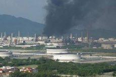 Fuerte explosión se registró en la Refinería Antonio Dovali Jaime, en Oaxaca