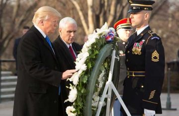 Trump inicia con los actos oficiales de su investidura