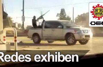 Captan en video fuerte balacera en Villa Juárez, Sinaloa
