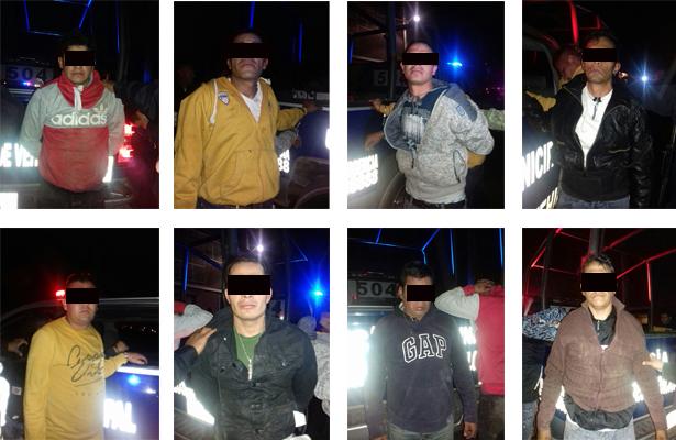 Detenidos 10 presuntos responsables por el delito de robo a mano armada, en Tecámac