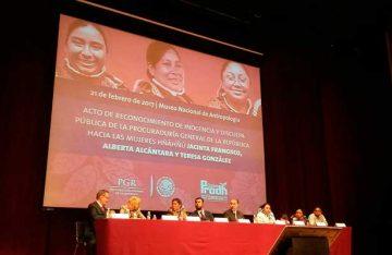 Ofrece PGR disculpa pública a tres mujeres indígenas acusadas de secuestro