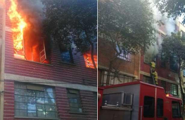 Sofocan gran incendio en hotel de la colonia Buenavista