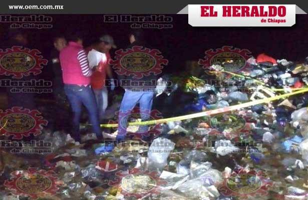 Hallan a niña embolsada en un basurero en Chiapas