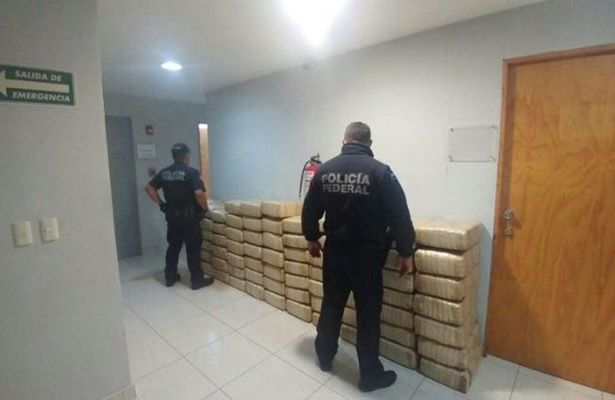 Aseguran cerca de 444 kilos de marihuana en Ensenada