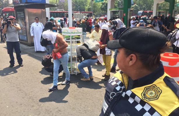Vandalizan gasolinera de Insurgentes y Reforma