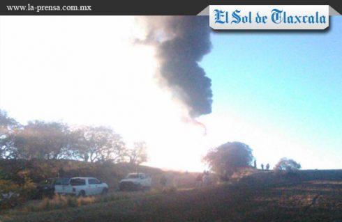 Se registra otro incendio en ducto de Calpulalpan