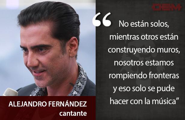 Lo dijo así Alejandro Fernández