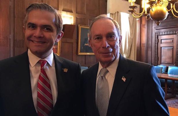 Mancera, se reunió con Michael Bloomberg, enviado especial para ciudades y Cambio Climático de la ONU