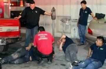 Policía ebrio embiste a siete músicos en Monterrey